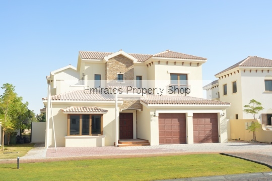 Golf course view 5 bedroom villa for rent Jumeirah Golf Estates
