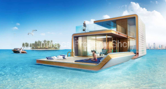 Floating Sea Horse Home on the World Islands